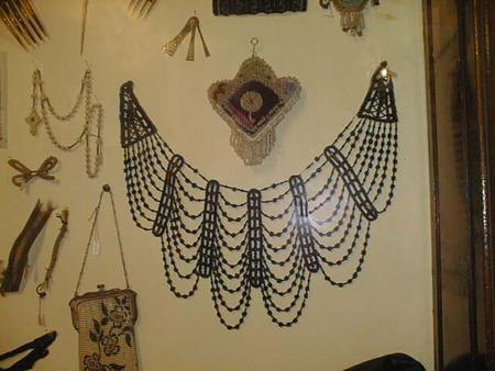 An example of jewelry on permanent display at the Historical Society